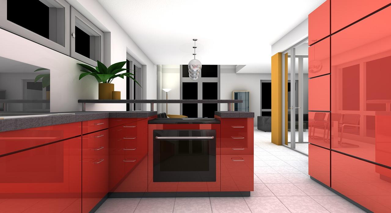 výbava kuchyně domu na Floridě
