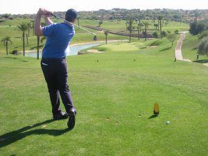 Golfer na Floridě v jednom z exkluzivních golfových resortů