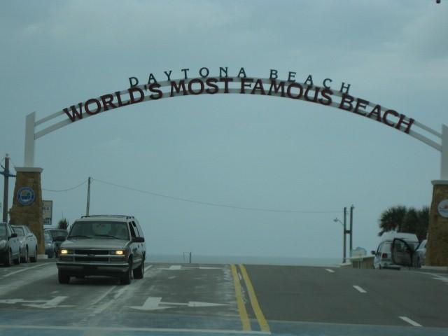 """Vjezd na pláž """"Daytona beach"""""""