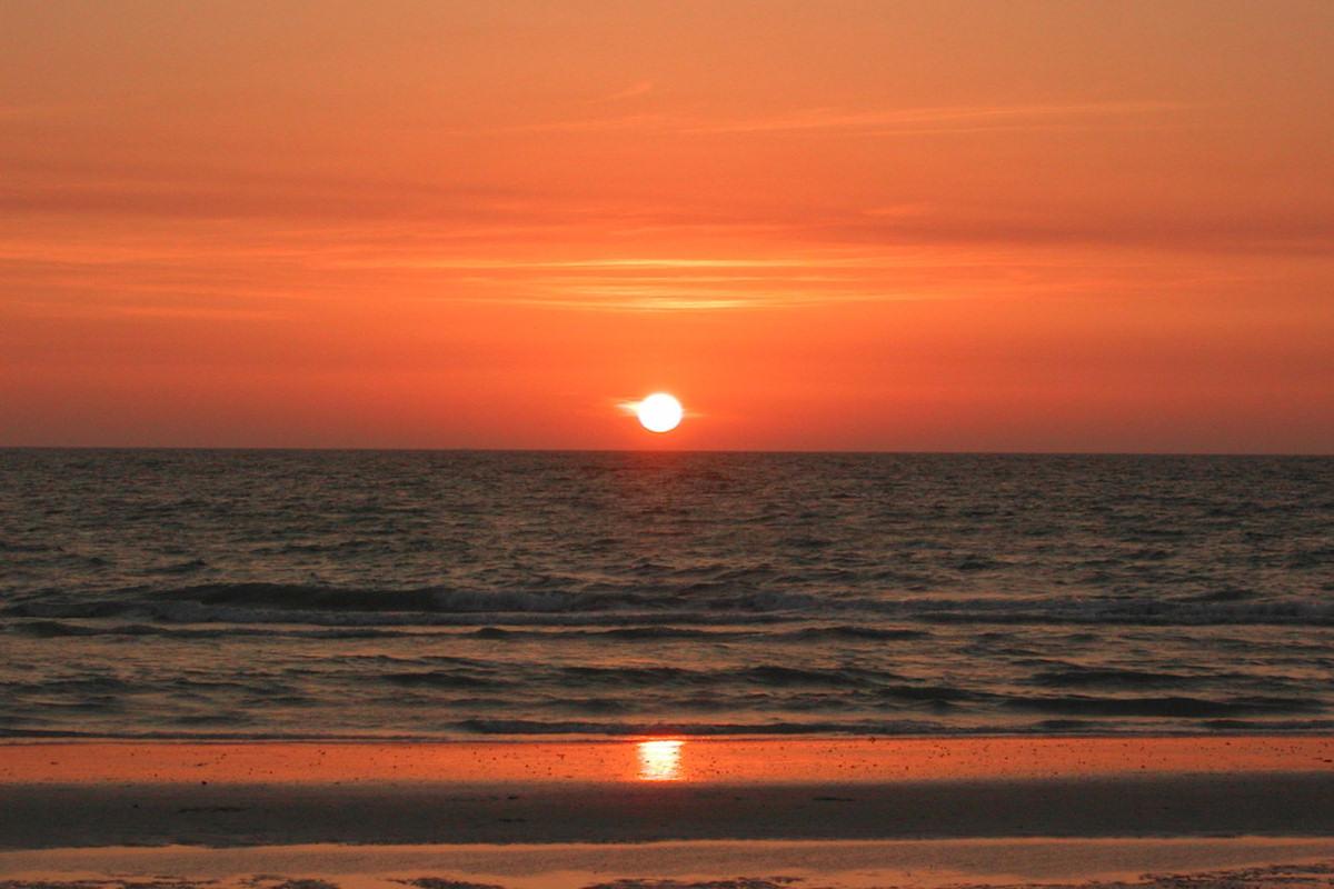 Západ slunce na Saint Petersburg Beach, , Florida