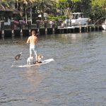 Jízda na paddle boardu ve vodních kanálech města :-)