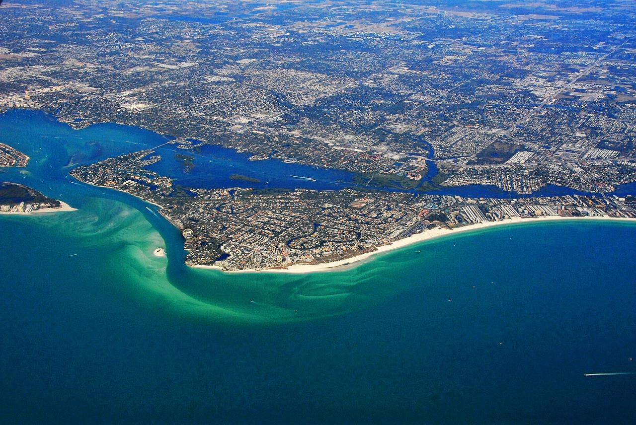 Siesta Key na Floridě – pohled na ostrov