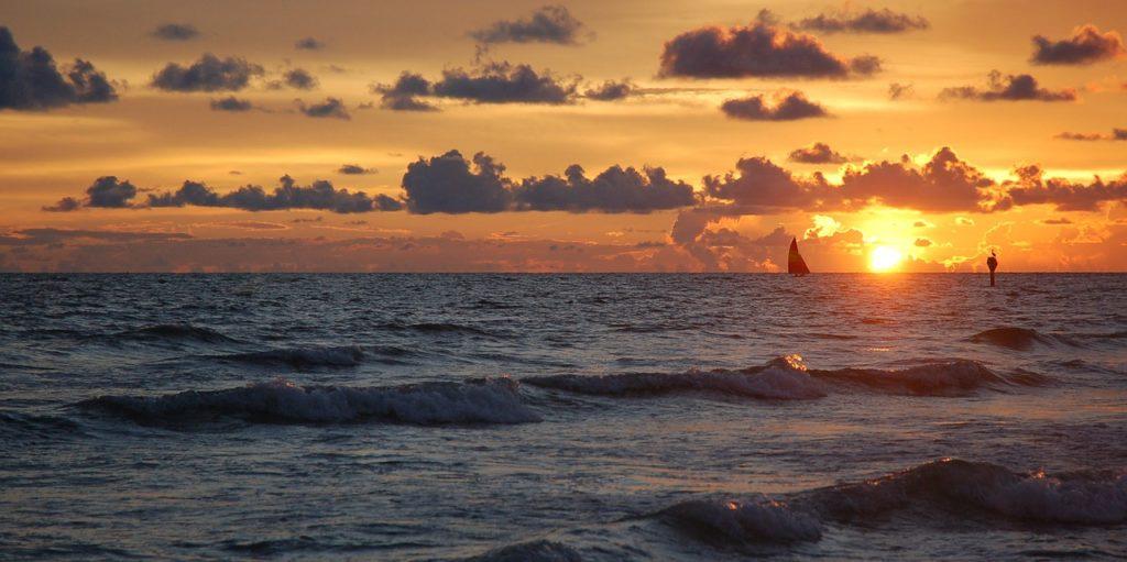 Siesta Key na Floridě - pohled na oceán