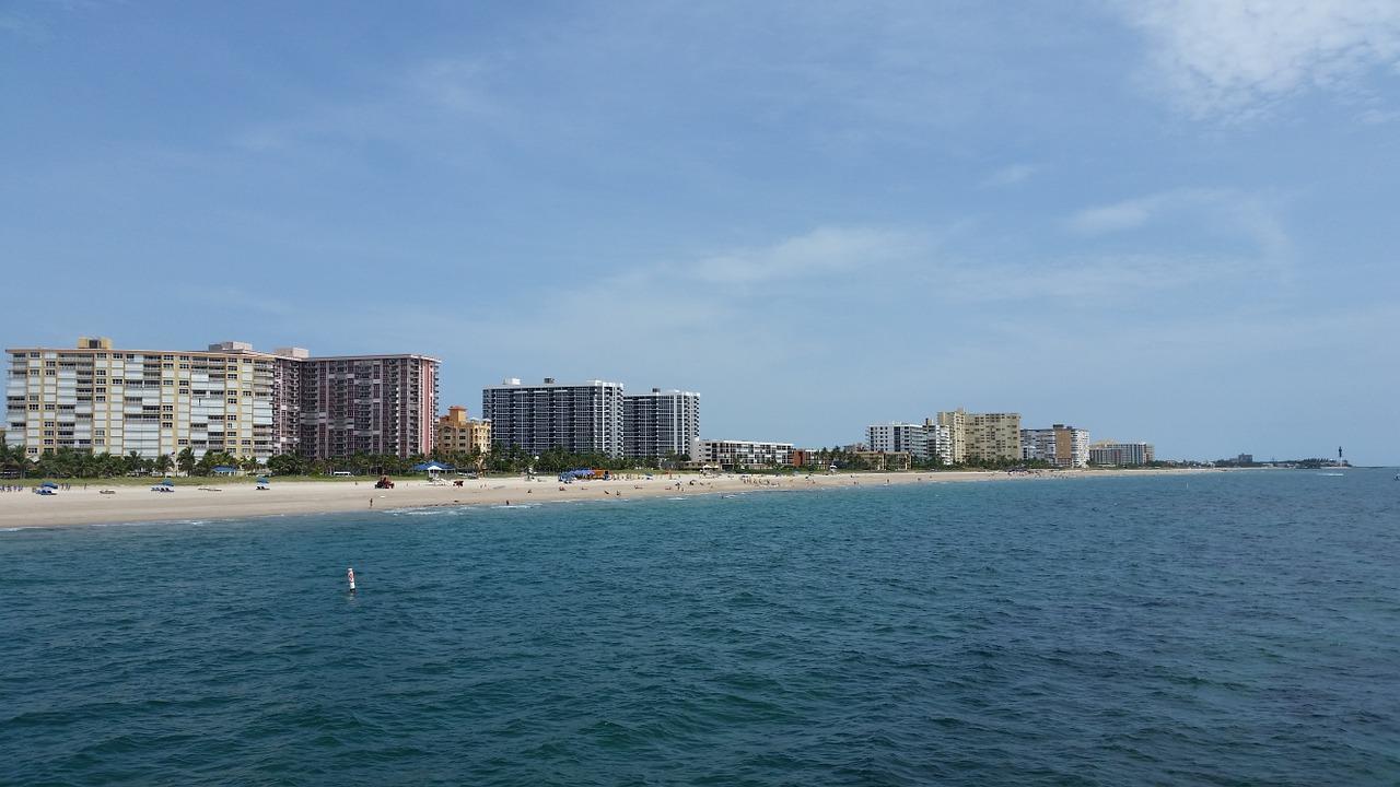 Pompano Beach - pohled na pláže