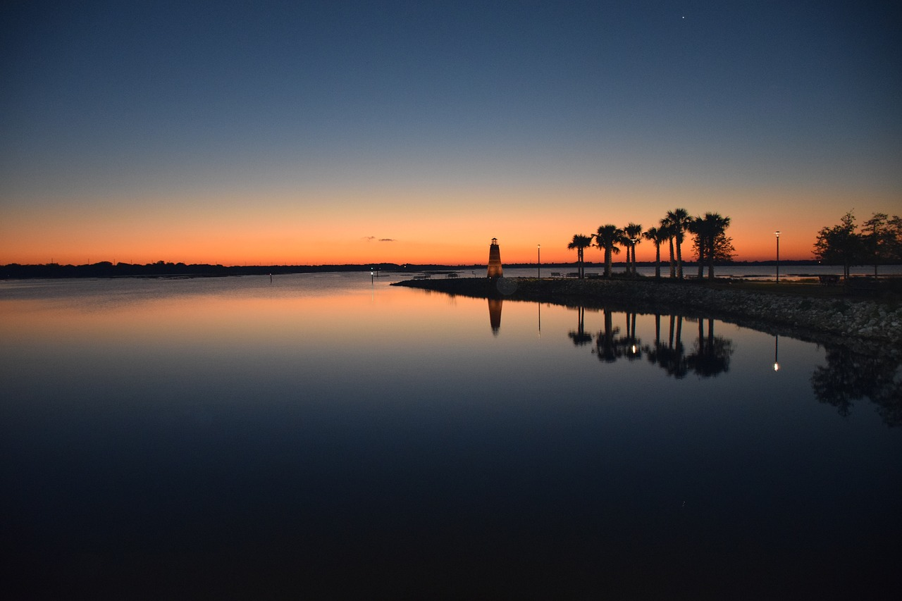 Kissimmee, Florida lighthouse u jezera Toho